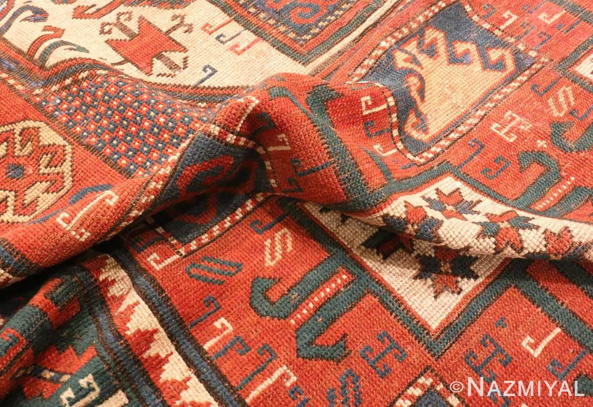 Picture of the Pile of Tribal Antique Caucasian Karachopf Rug #70049 From Nazmiyal Antique Rugs In NYC