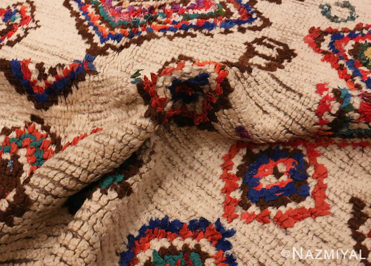 Picture of the Pile of Vintage Mid Century Folk Art Moroccan Rug #46512 From Nazmiyal Antique Rugs In NYC