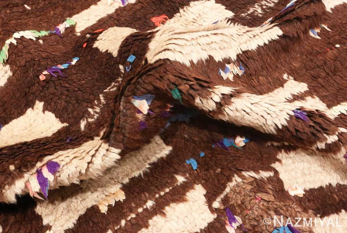 Picture of the Pile of Vintage Mid Century Moroccan Berber Rug #46441 From Nazmiyal Antique Rugs In NYC
