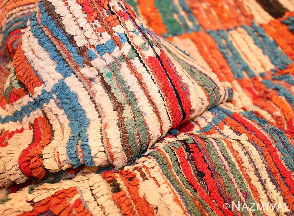Picture of the Pile of Vintage Moroccan Rag Rug #45728 From Nazmiyal Antique Rugs In NYC