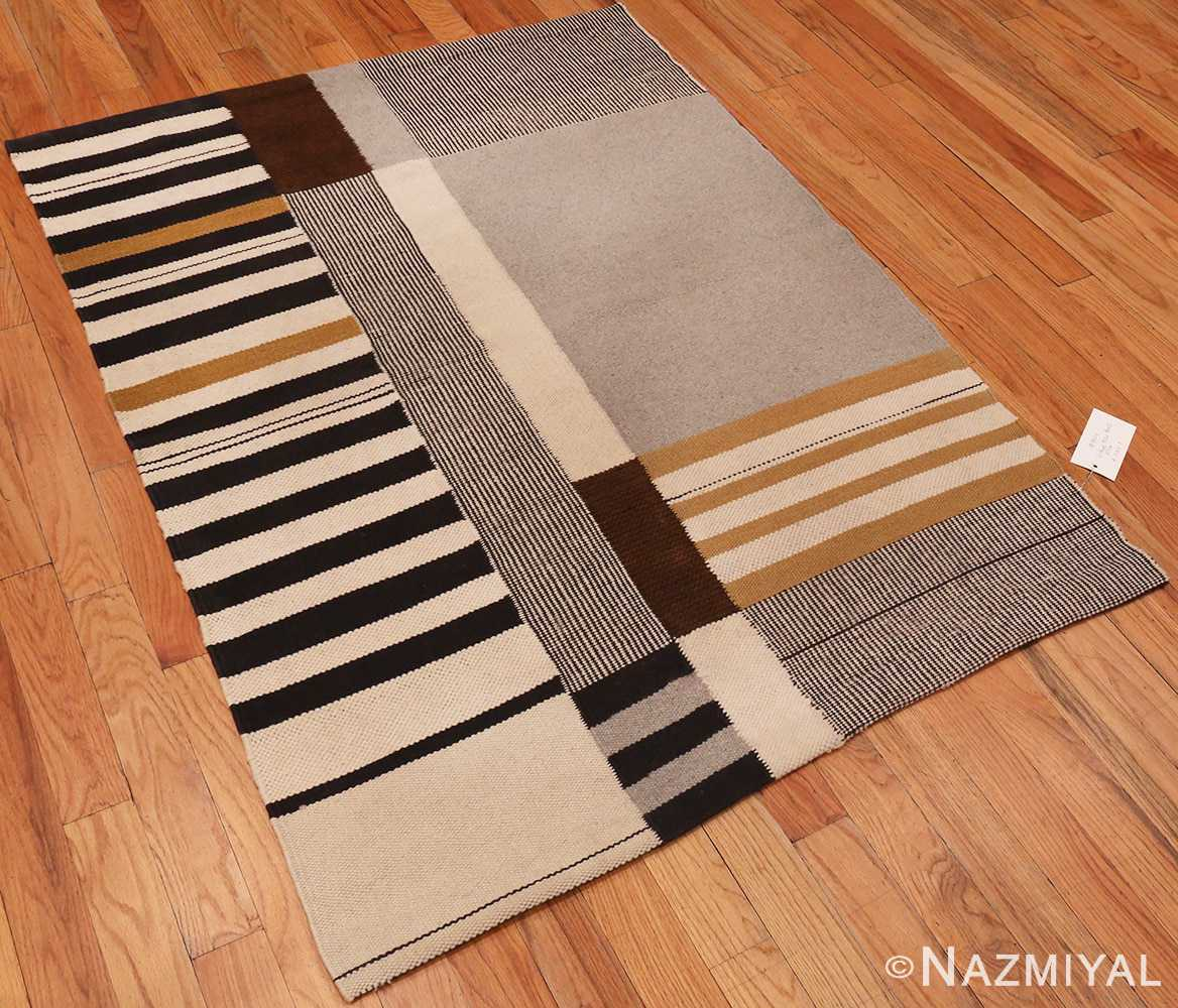 Side Picture of the Alice Kagawa Parrott Art Kilim #70026 From Nazmiyal Antique Rugs in NYC