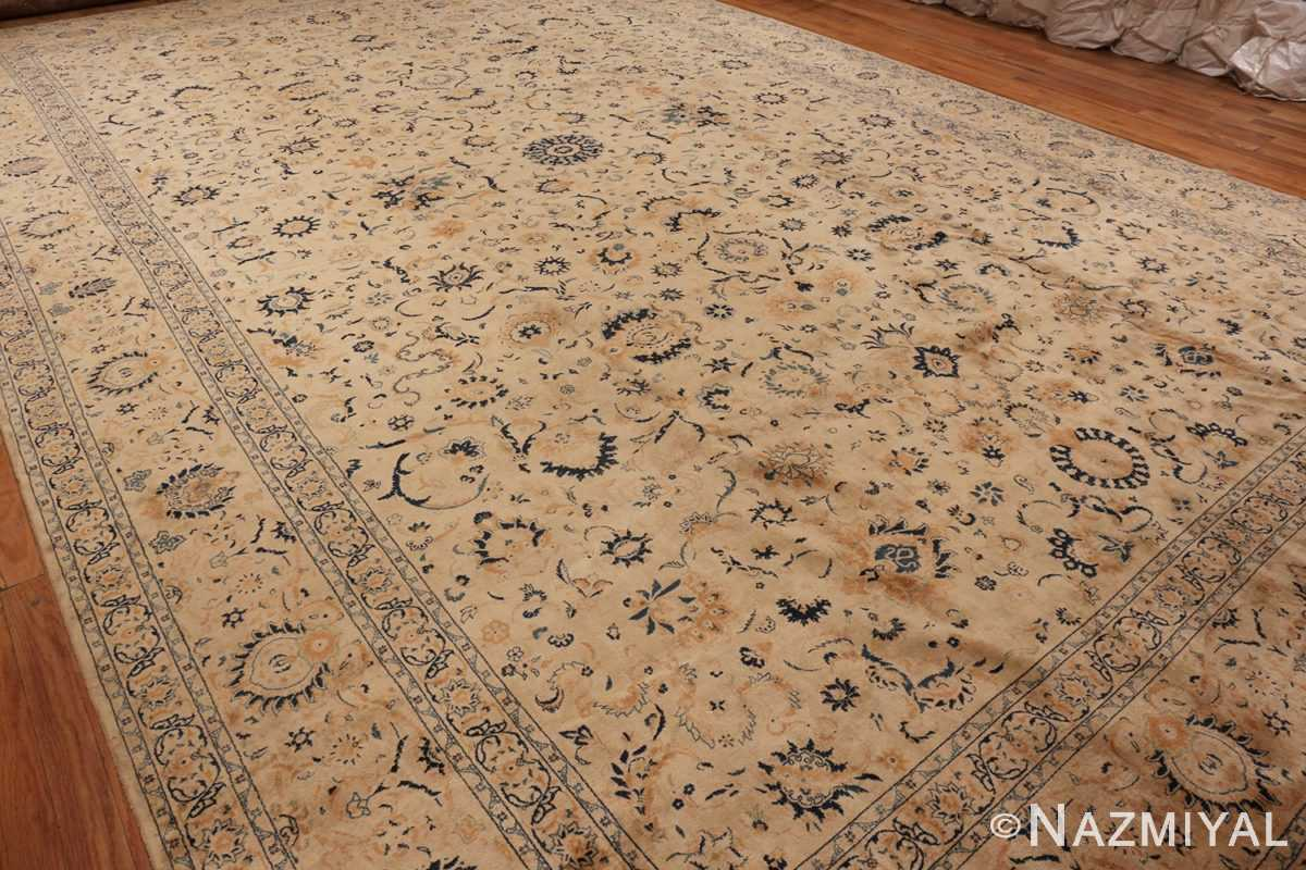 Side View Picture Of Antique Persian Kashan Carpet #50115 from Nazmiyal Antique Rugs in NYC