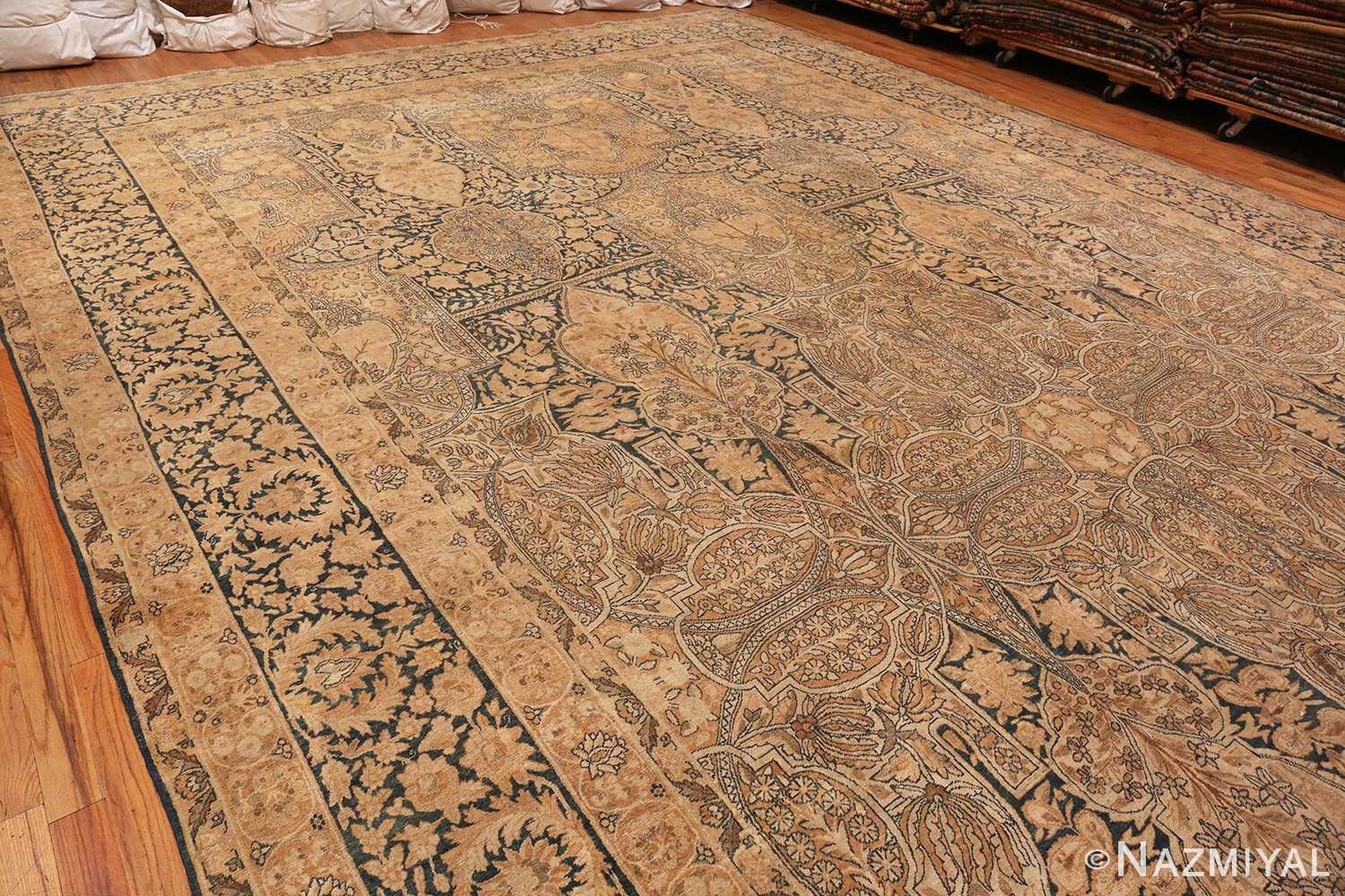 Side View Picture Of Antique Persian Kerman Rug #42703 from Nazmiyal Antique Rugs in NYC