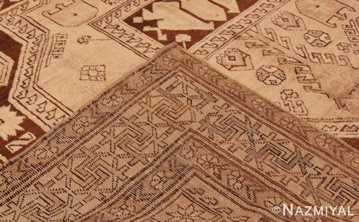 Picture of the weave of Antique Caucasian Tribal Karabagh Rug #50494 from Nazmiyal Antique Rugs in NYC