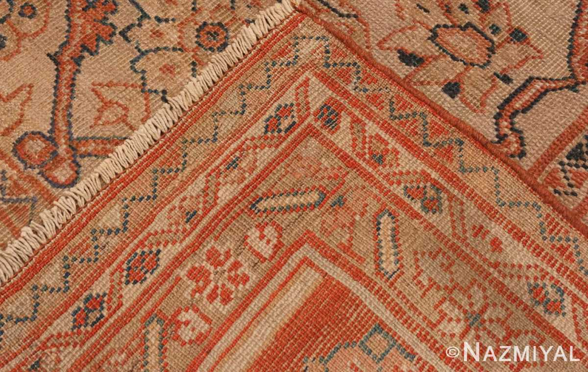 A picture of the weave of Antique Ivory Persian Sultanabad rug #50576 from Nazmiyal Antique Rugs in NYC