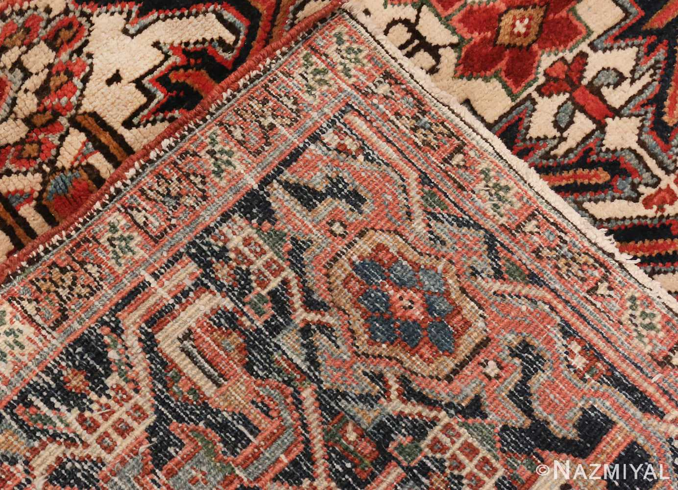 A picture of the weave of Antique Persian Heriz rug #47160 from Nazmiyal Antique Rugs in NYC
