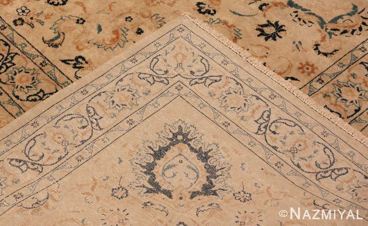 Picture of the Weave Of Antique Persian Kashan Carpet #50115 from Nazmiyal Antique Rugs in NYC