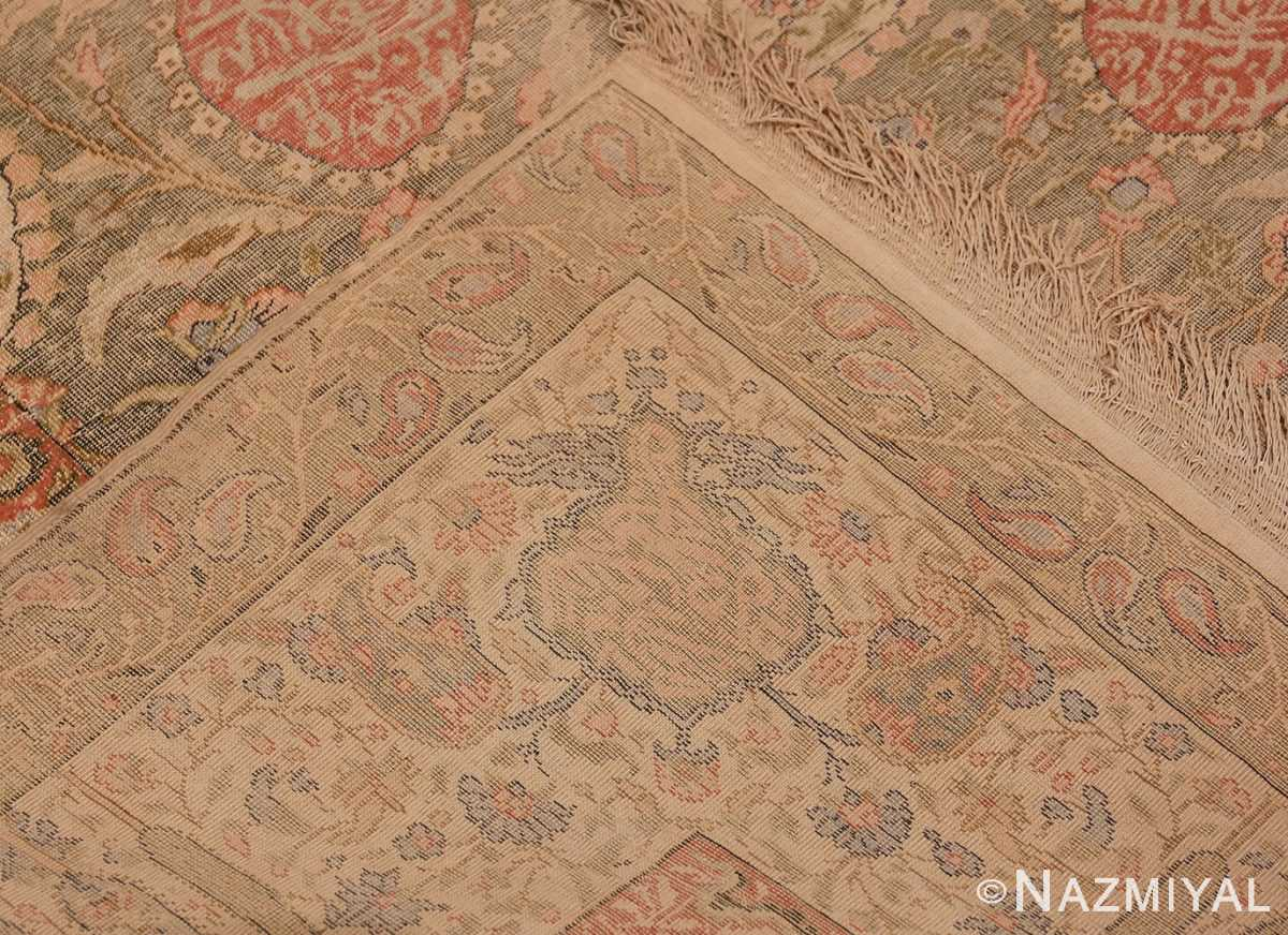 Picture of the Weave Of Antique Silk Turkish Kayseri Shabby Chic Rug #48938 From Nazmiyal Antique Rugs In NYC