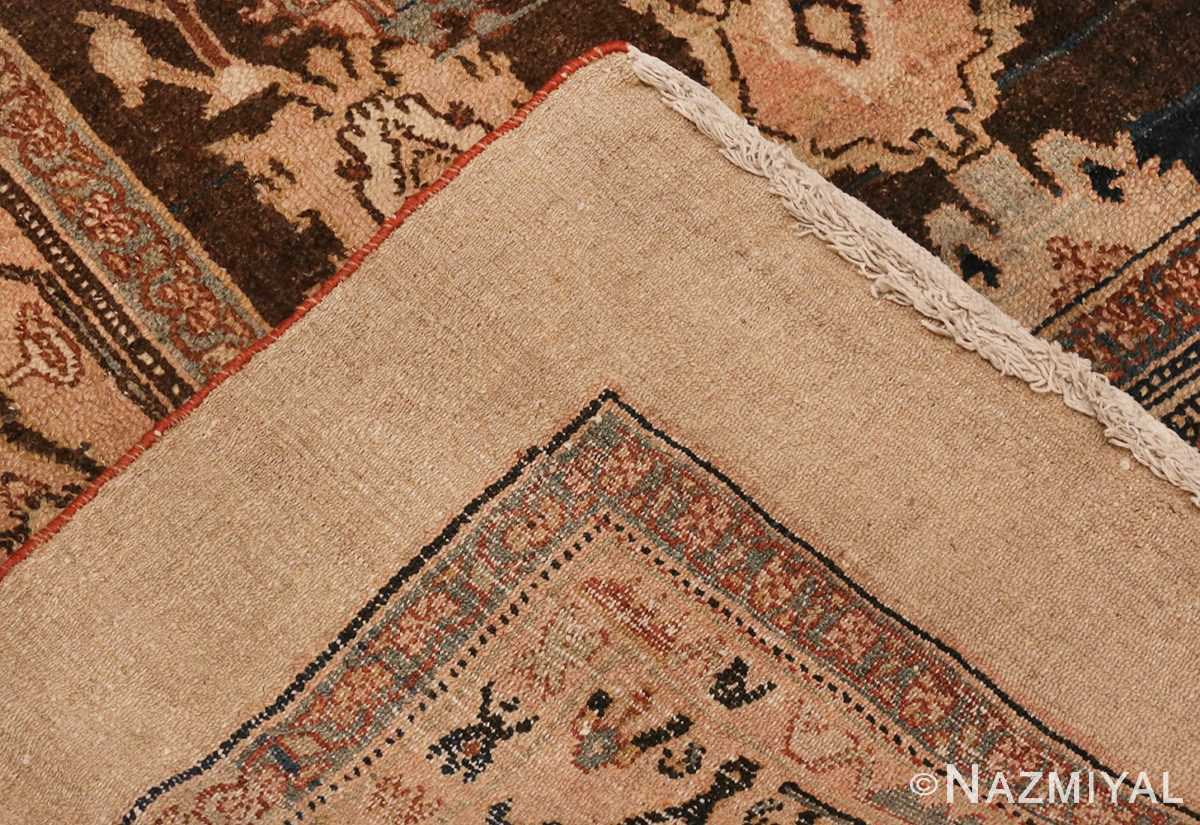 Picture of the Weave Of Brown Antique Persian Malayer Rug #48939 from Nazmiyal Antique Rugs in NYC