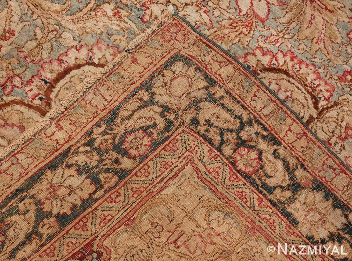 Picture of the Weave Of Large Antique Indian Agra Rug #48942 From Nazmiyal Antique Rugs In NYC
