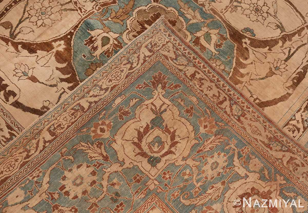 A Picture of the weave of Large Antique Tabriz Persian Rug #48815 from Nazmiyal Antique Rugs in NYC