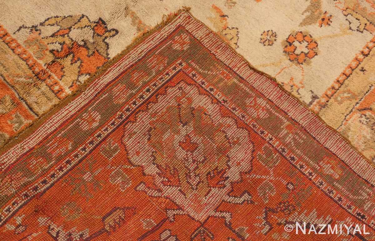 A Picture of the weave of Large Antique Turkish Oushak Rug #50674 from Nazmiyal Antique Rugs in NYC