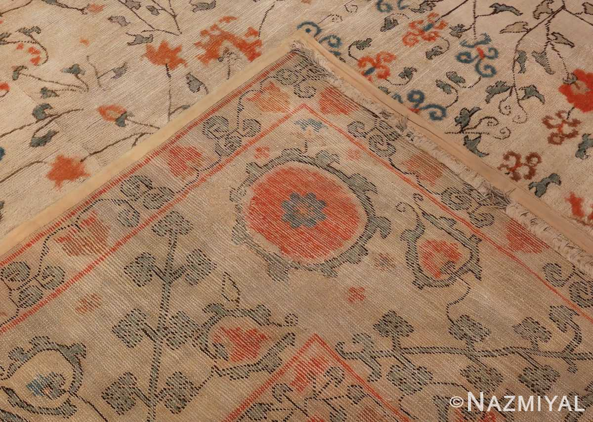 Picture of the Weave Of Large Oversized Antique Khotan Carpet #48219 From Nazmiyal Antique Rugs In NYC