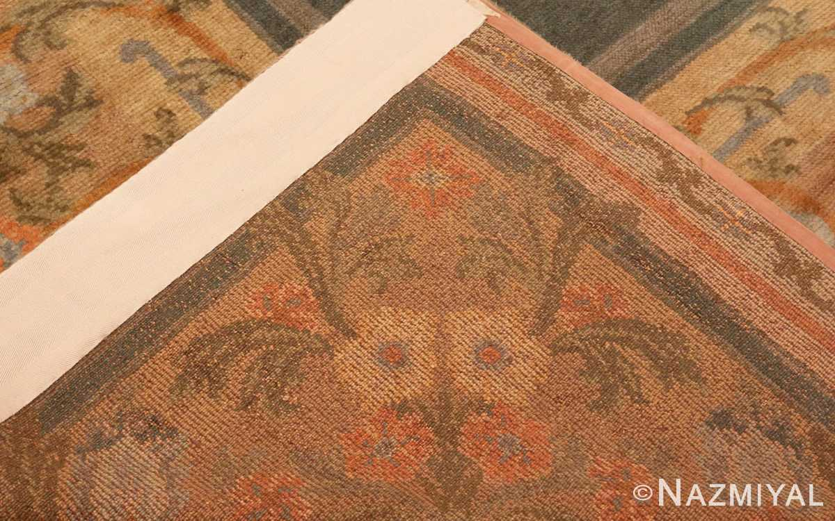 Picture of the Weave of Antique Spanish Savonnerie Carpet #49845 from Nazmiyal Antique Rugs in NYC