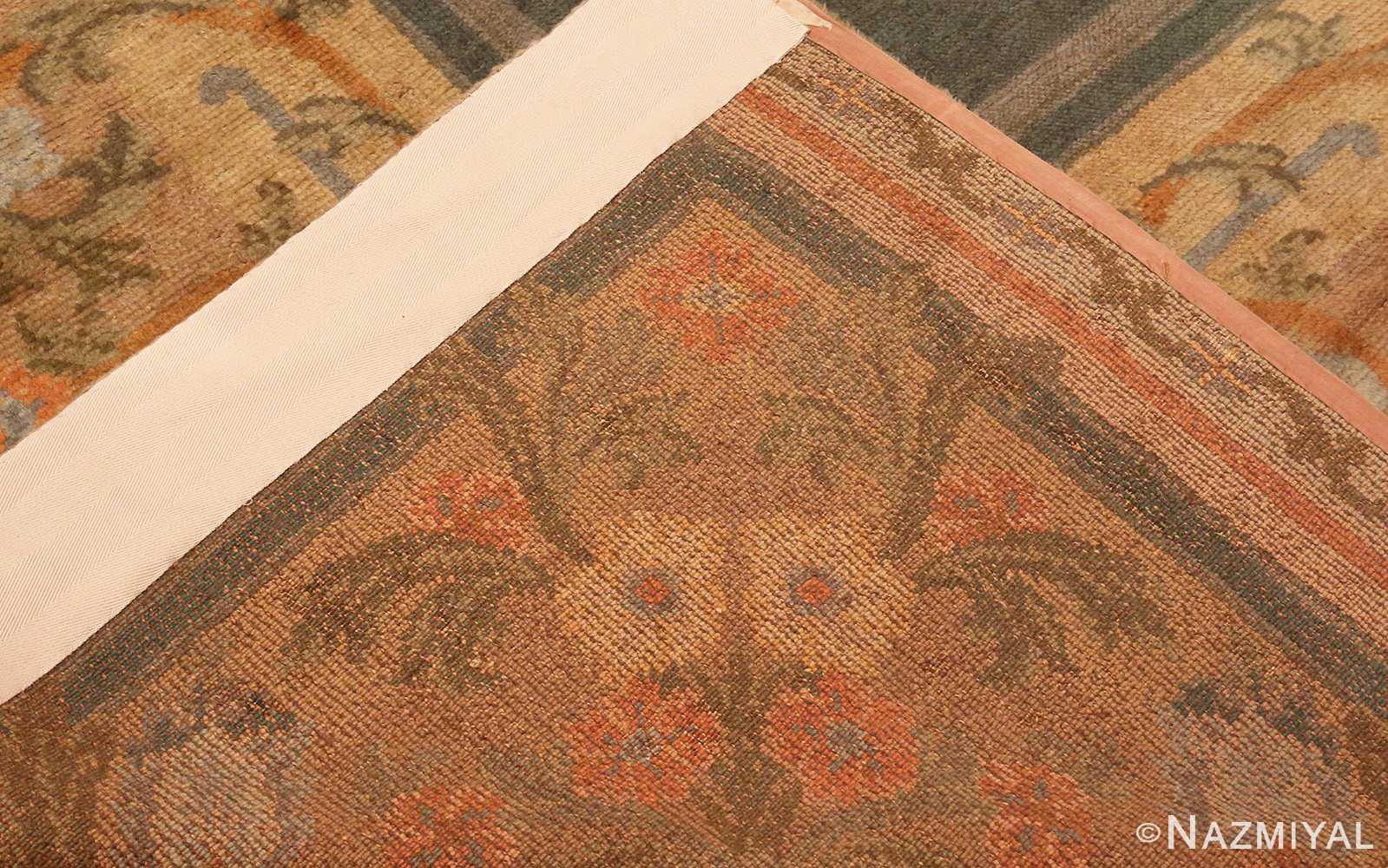 Large Green Antique Spanish Savonnerie Carpet 49845