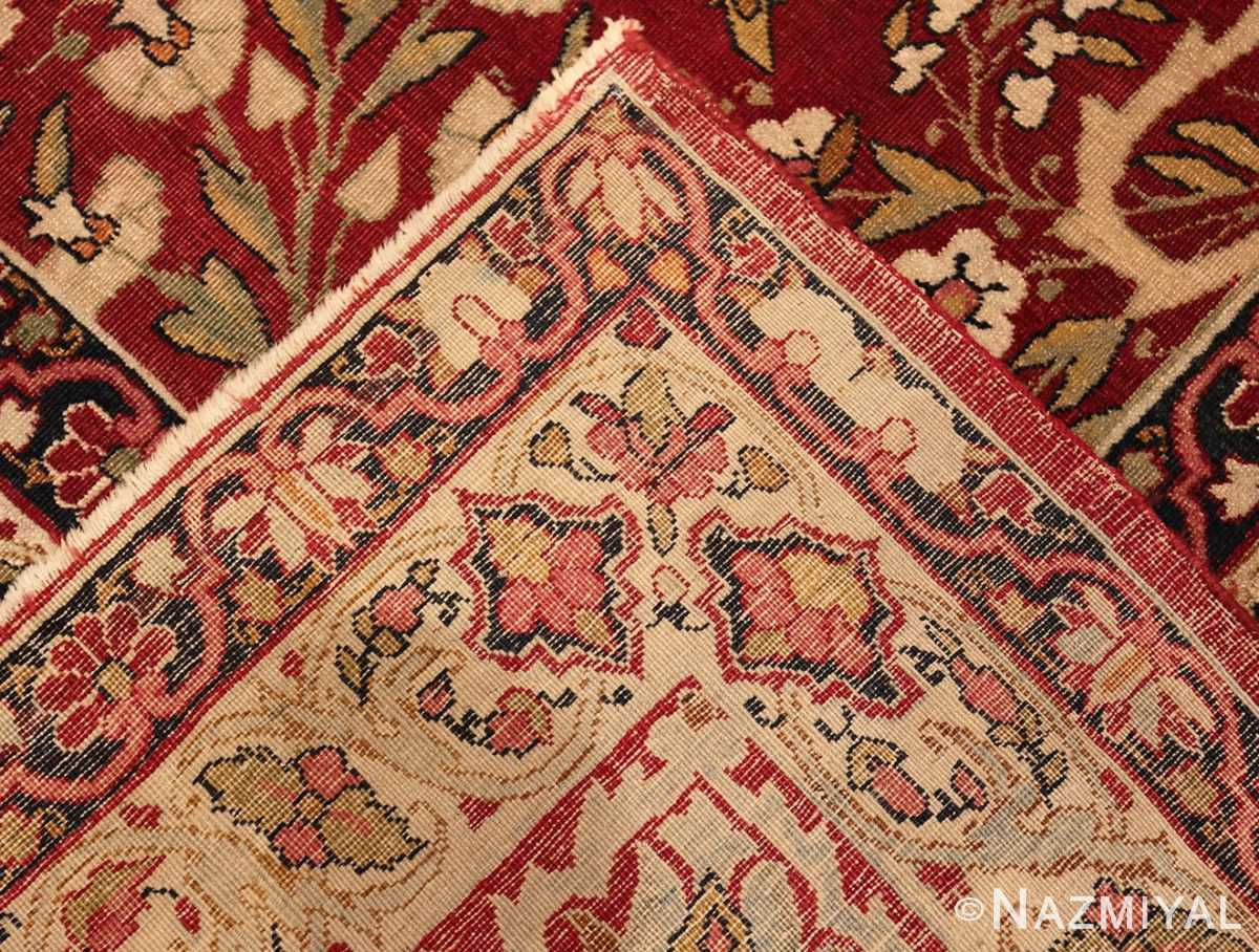 Picture of the weave of Picture of Room Size Antique Persian Kerman Carpet #49900 From Nazmiyal Antique Rugs in NYC