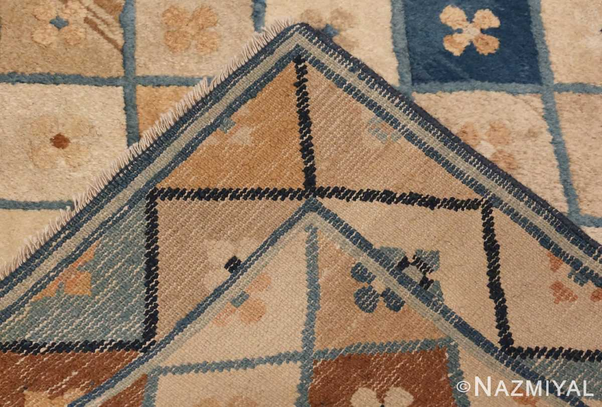 Picture of the Weave Of Small Antique Chinese Rug #46320 From Nazmiyal Antique Rugs In NYC