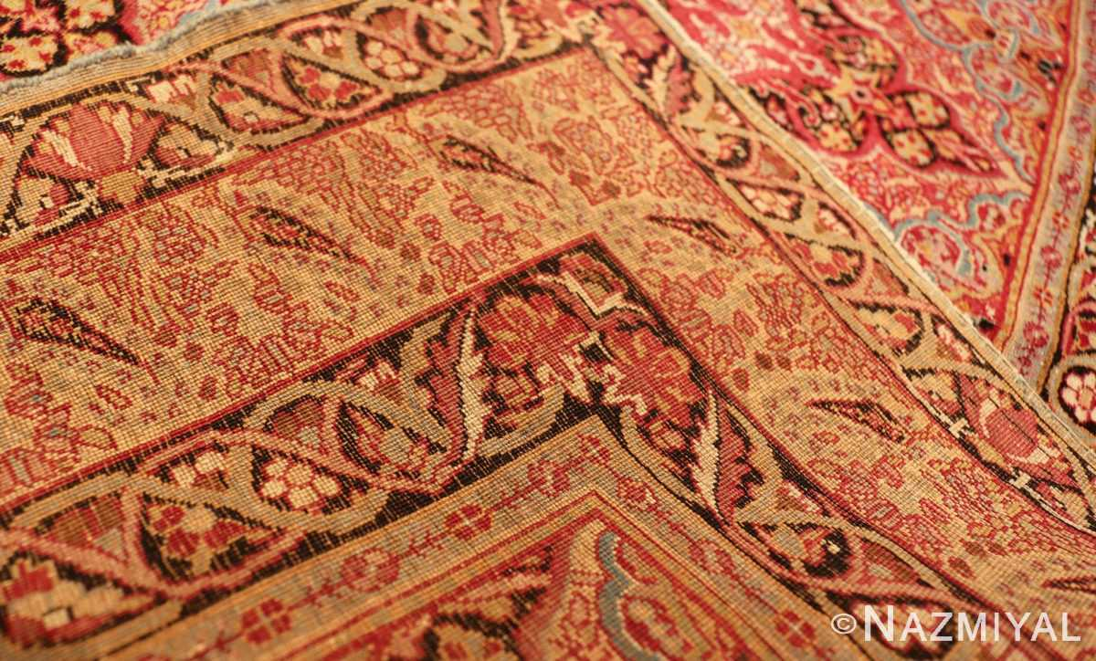 Picture of the weave of Small Antique Persian Kerman Rug #49990 From Nazmiyal Antique Rugs in NYC