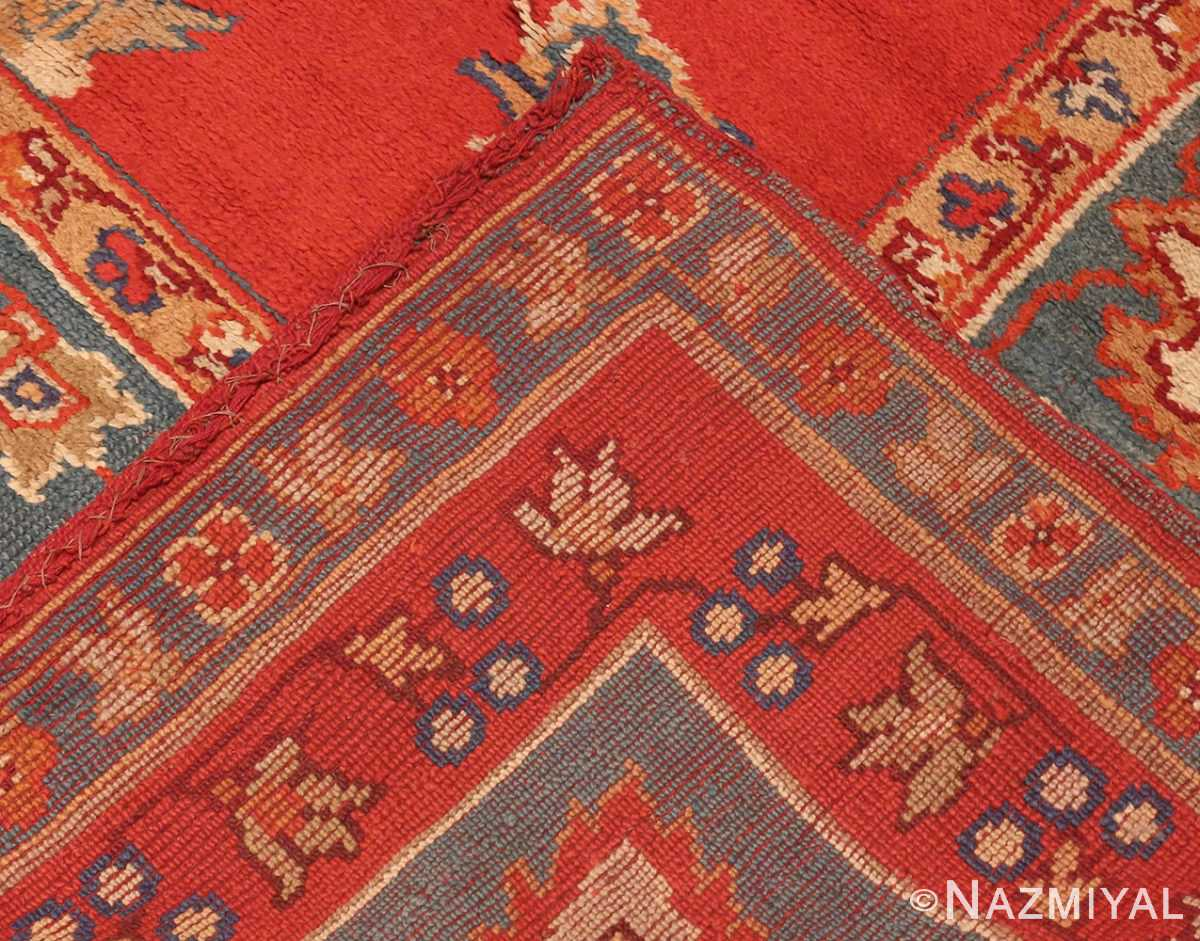 Picture of the Weave of Square Size Antique Irish Donegal Rug #3328 From Nazmiyal Antique Rugs In NYC