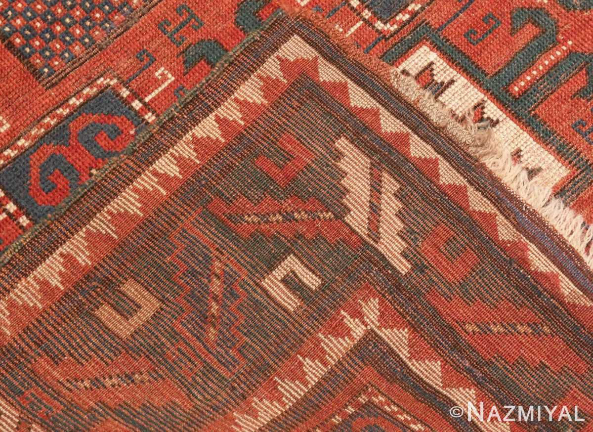 Picture of the Weave Of Tribal Antique Caucasian Karachopf Rug #70049 From Nazmiyal Antique Rugs In NYC