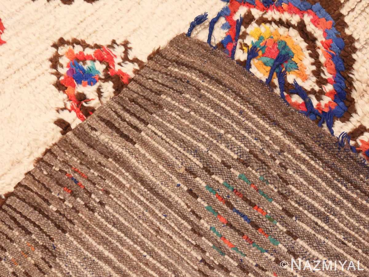 Picture of the Weave Of Vintage Mid Century Folk Art Moroccan Rug #46512 From Nazmiyal Antique Rugs In NYC