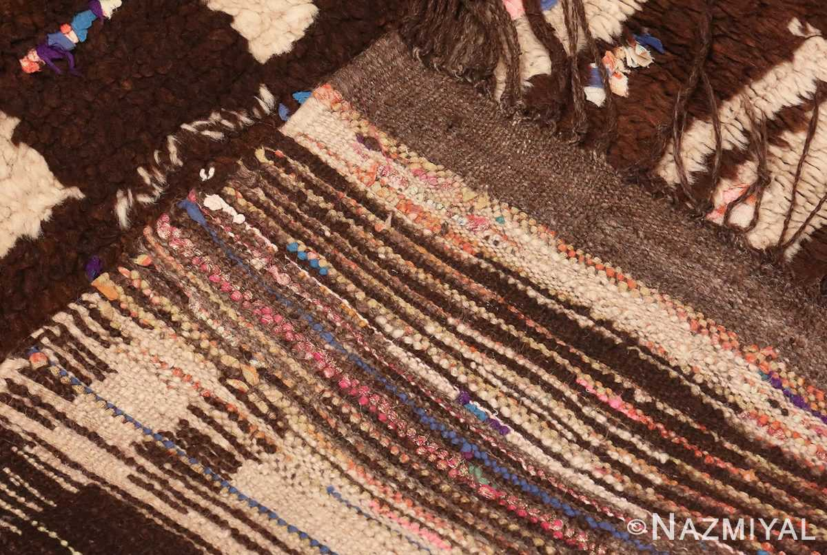 Picture of the Weave Of Vintage Mid Century Moroccan Berber Rug #46441 From Nazmiyal Antique Rugs In NYC