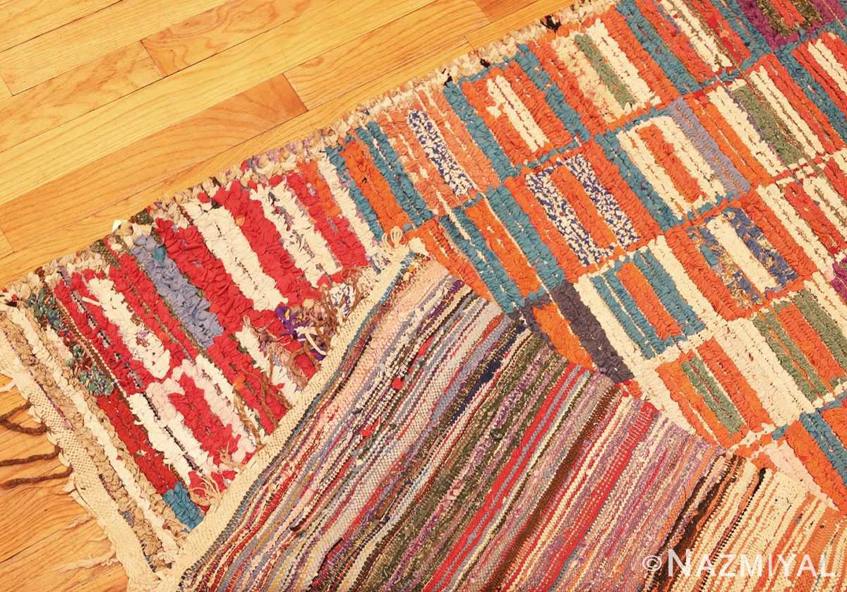 Picture of the Weave Of Vintage Moroccan Rag Rug #45728 From Nazmiyal Antique Rugs In NYC