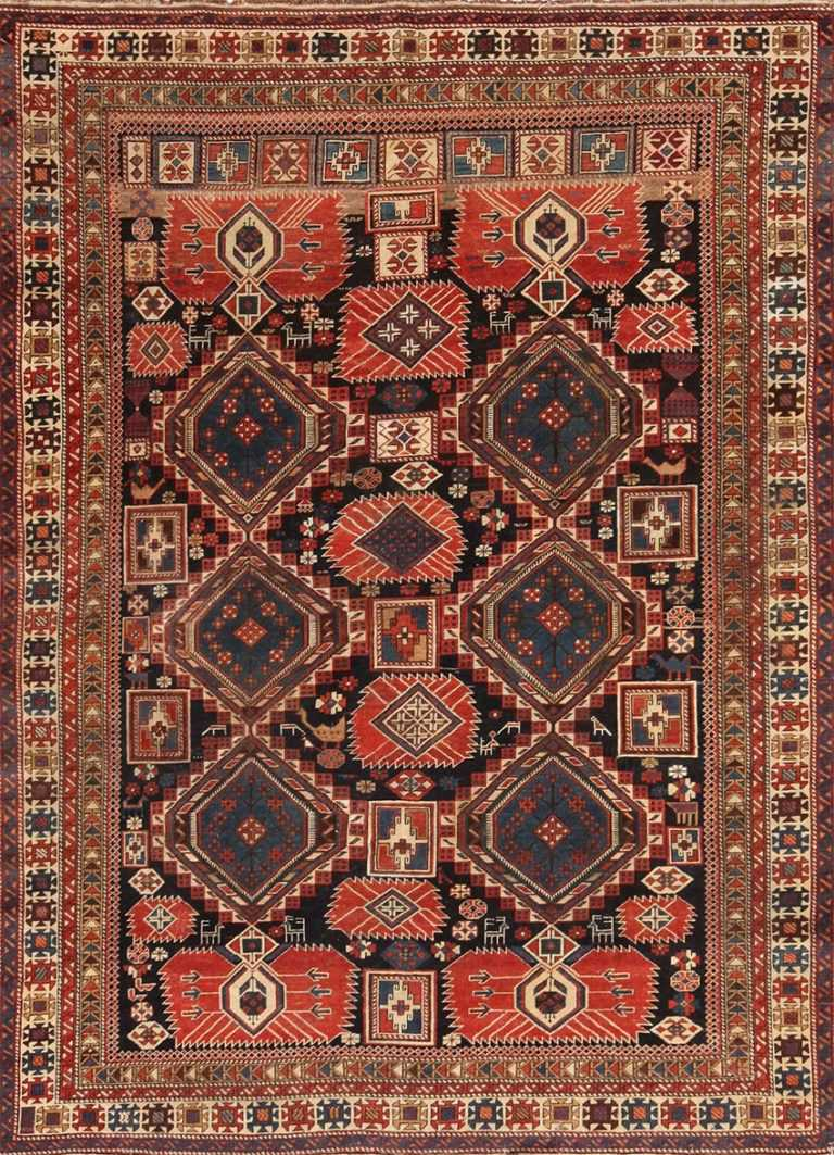 A picture of antique caucasian shirvan rug #70076 from Nazmiyal NYC