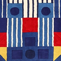 A Detail Picture of a Rug by Artist George Earl Ortman From Nazmiyal Antique Rugs in NYC