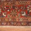 A border picture of the large ivory background antique persian sultanabad rug #50571 from Nazmiyal Antique Rugs NYC