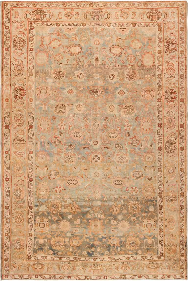 Picture of Decorative Antique Room Size Persian Malayer Rug #49511 From Nazmiyal Antique Rugs in NYC