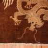 A detailed dragon piture of the antique chinese dragon runner rug #70064 from Nazmiyal Antique Rugs NYC