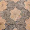 A detailed flower pattern picture of the rare antique 17th century chinese ningxia carpet #70071 from Nazmiyal Antique Rugs NYC