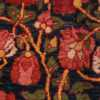 A detailed red flower picture of antique blue background persian bidjar carpet #47411 from Nazmiyal Antique Rugs NYC