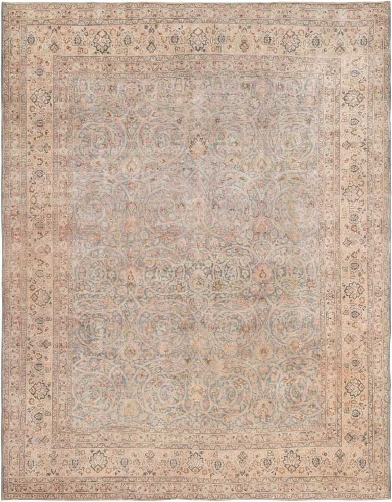 Picture of Light Blue Antique Persian Khorassan Rug #70001 from Nazmiyal Antique Rugs in NYC