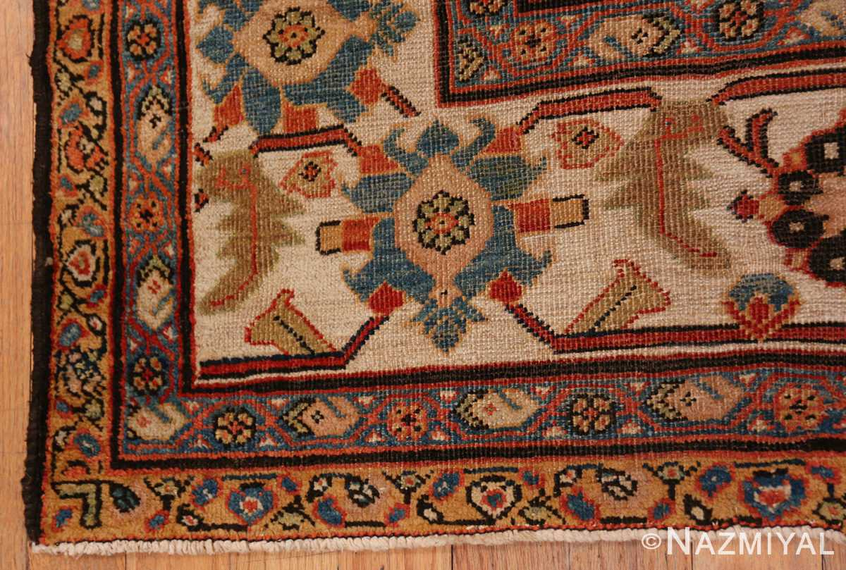 A border picture of the antique large scale persian sultanabad carpet #48563 from Nazmiyal Antique Rugs NYC