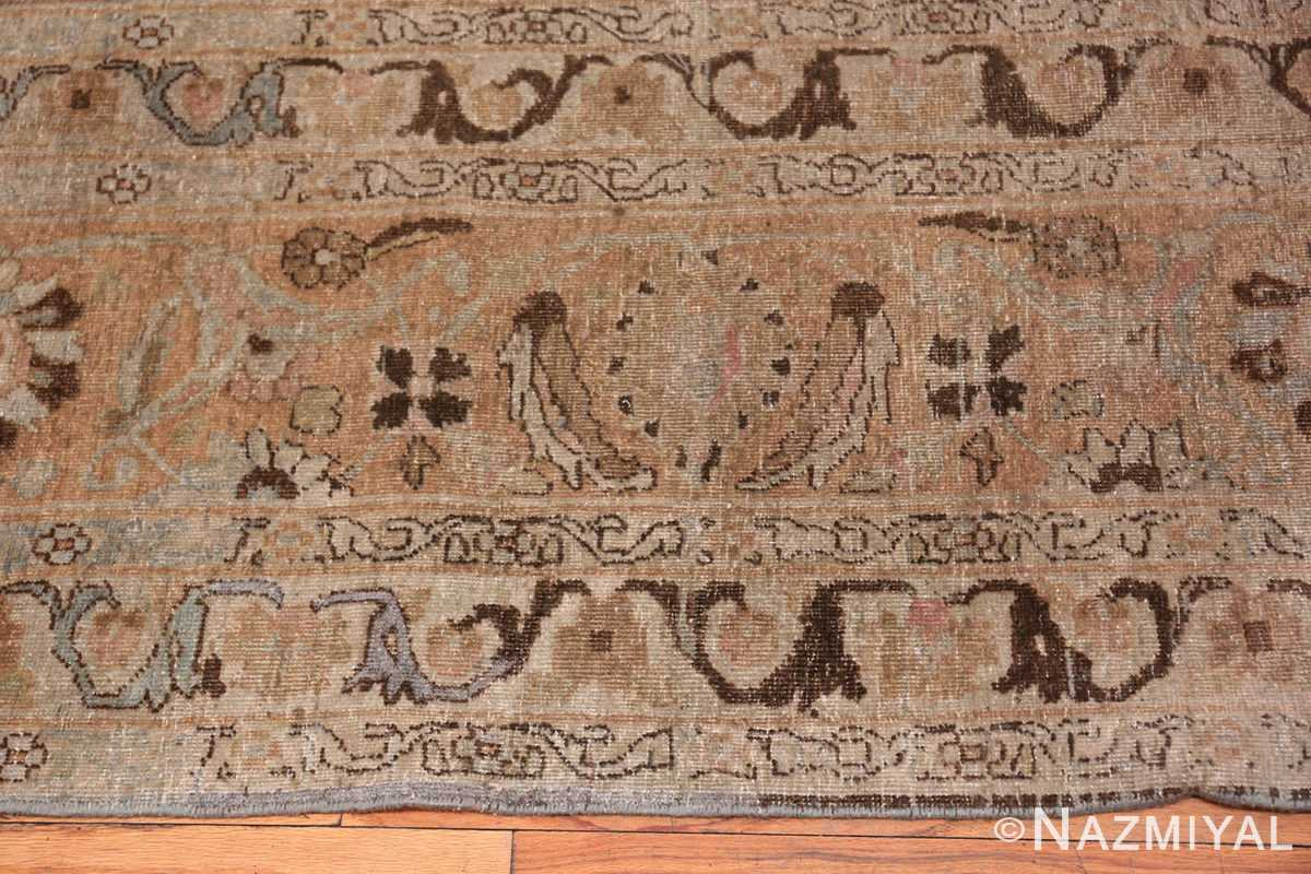An edge picture of the antique persian khorassan rug #49843 from Nazmiyal Antique Rugs NYC