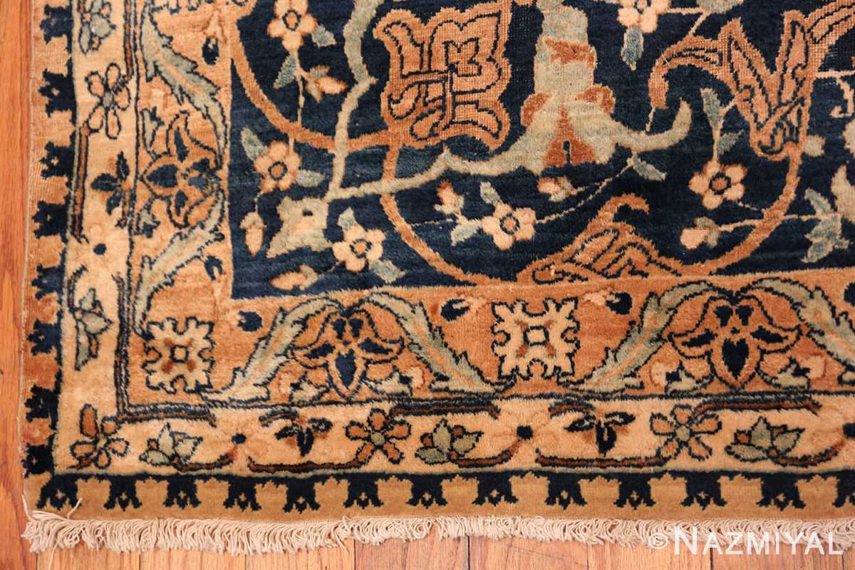 A border picture of the large vase design antique persian kerman rug #50701 from Nazmiyal Antique Rugs NYC