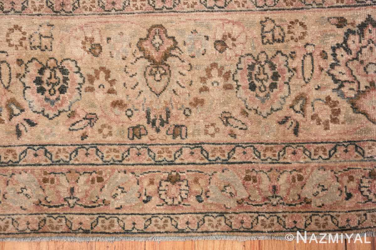 Border Light Blue Antique Persian Khorassan rug 70001 by Nazmiyal