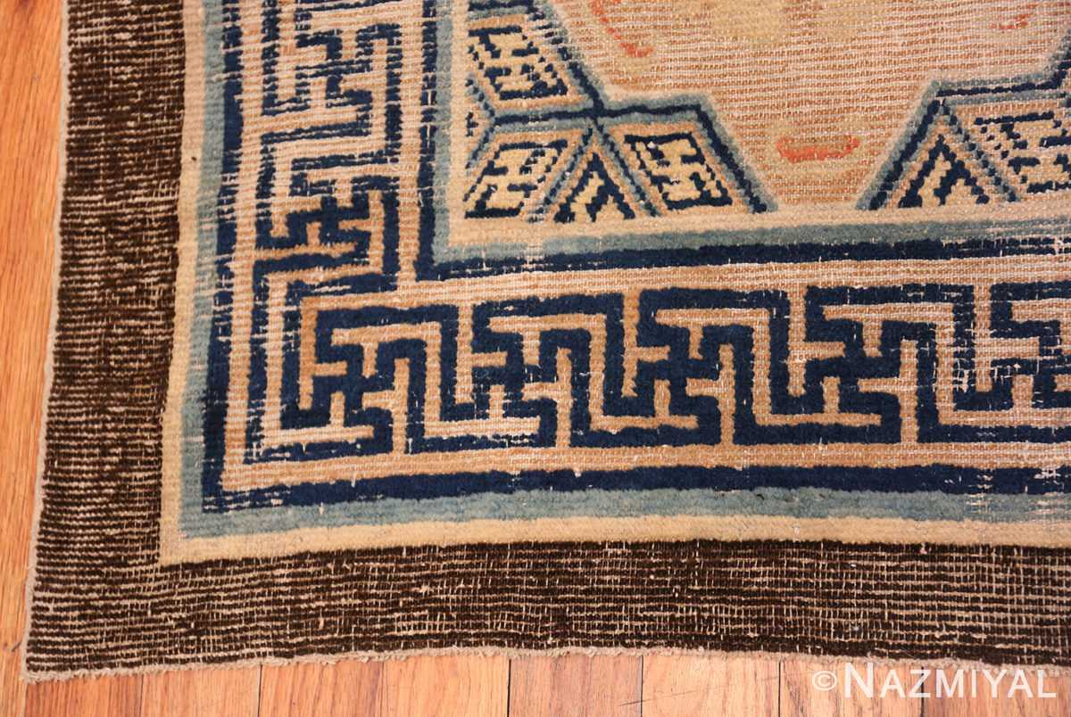 A border picture of the rare antique 17th century chinese ningxia carpet #70071from Nazmiyal Antique Rugs NYC