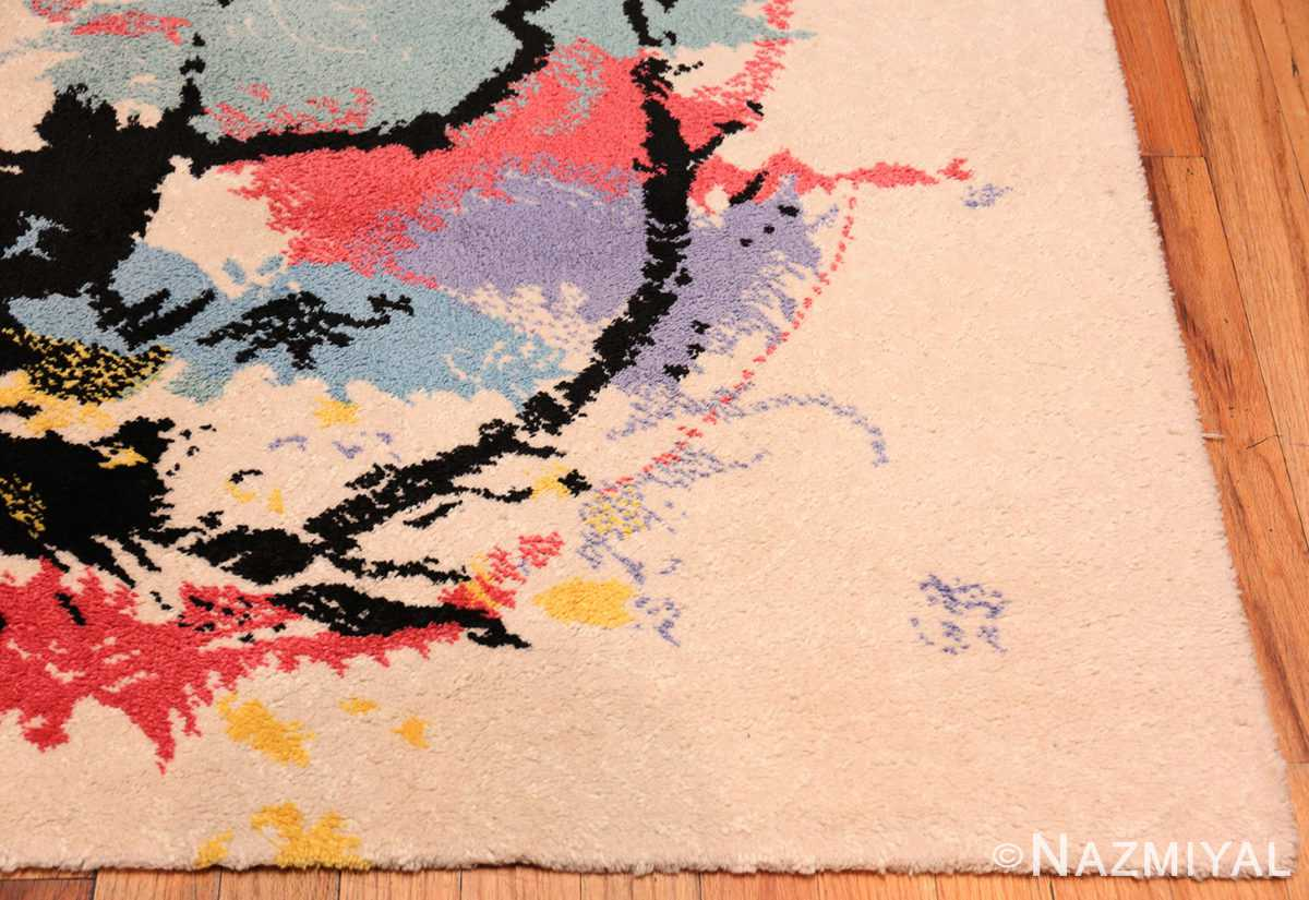 A Picture of border of the vintage Swedish Robert Jacobsen Ege Rug #7077 from Nazmiyal Antique Rugs NYC