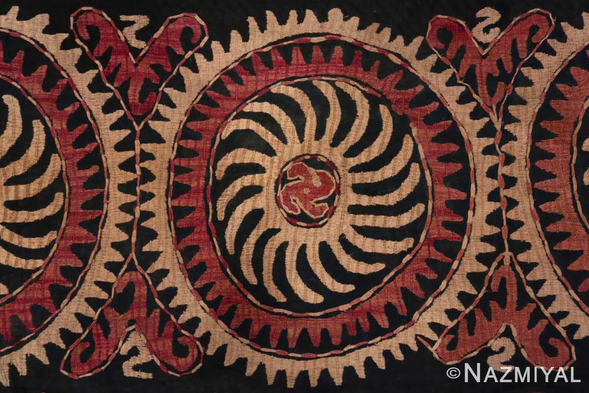 Center Antique Kaitag Dagestan embroidery 70085 by Nazmiyal