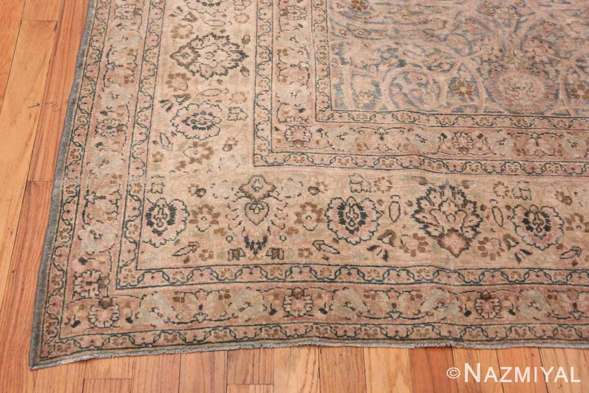 Corner Light Blue Antique Persian Khorassan rug 70001 by Nazmiyal