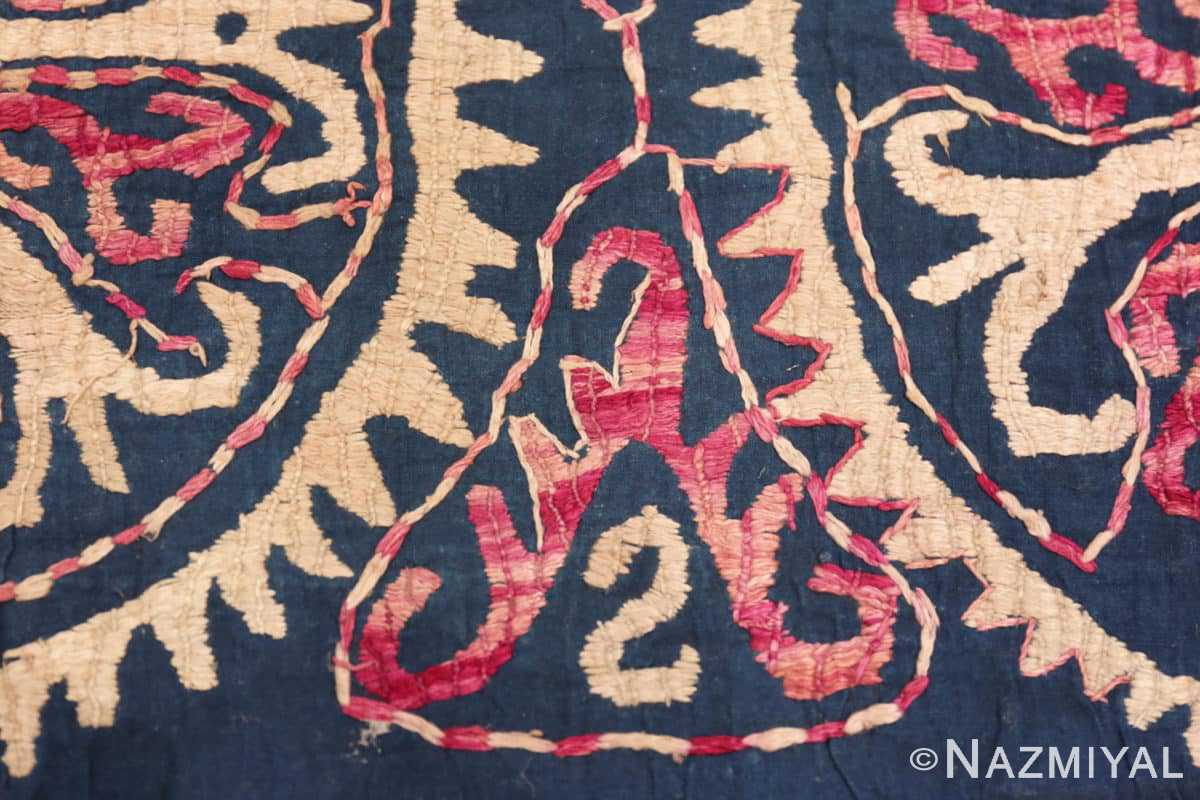 Border detail 19th century Kaitag Dagestan embroidery rug 70083 by Nazmiyal