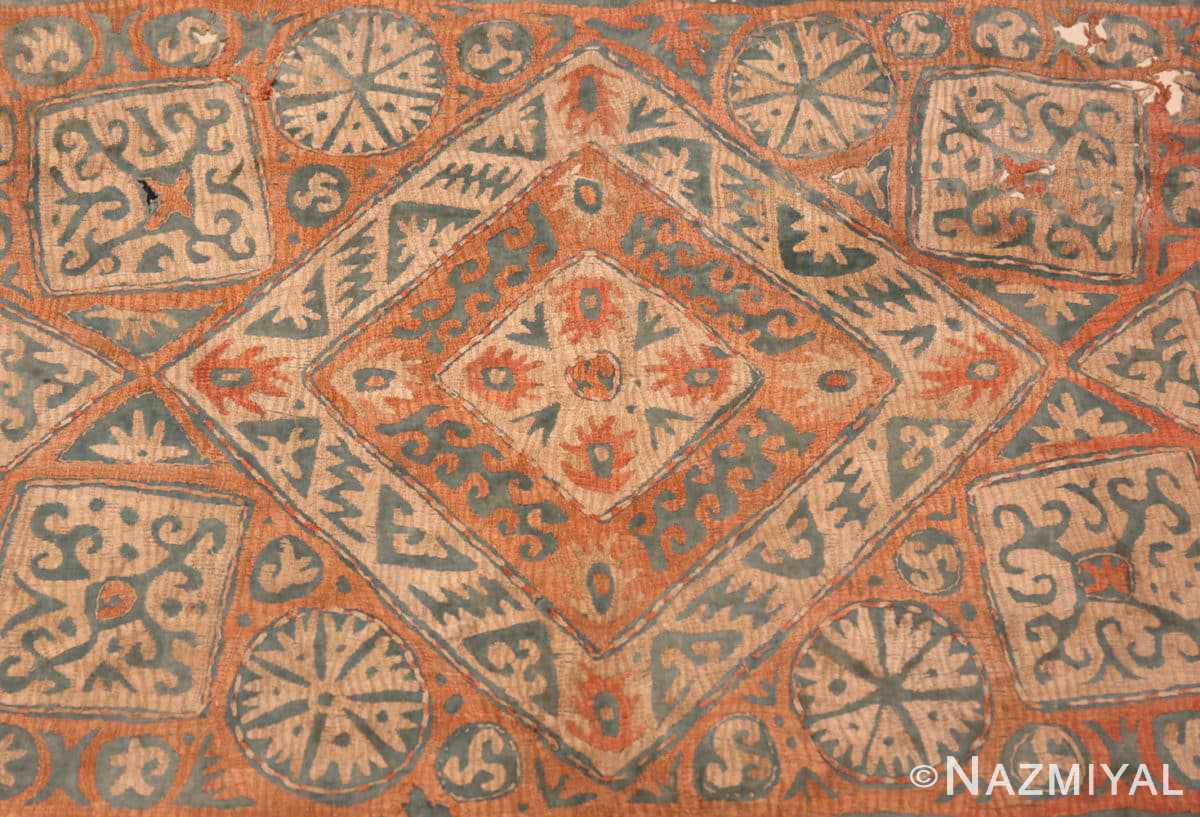 Center Antique Kaitag Embroidery Dagestan rug 70087 by Nazmiyal