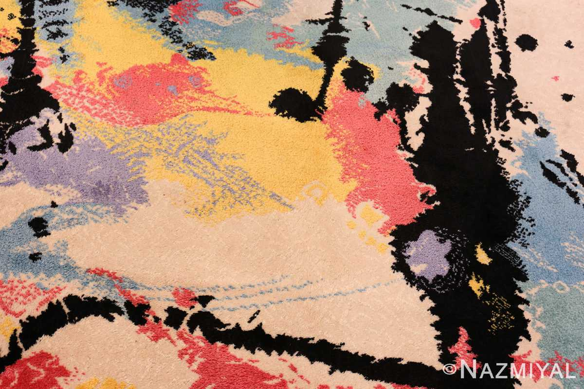 A detailed picture of the vintage Swedish Robert Jacobsen Ege Rug #7077 from Nazmiyal Antique Rugs NYC