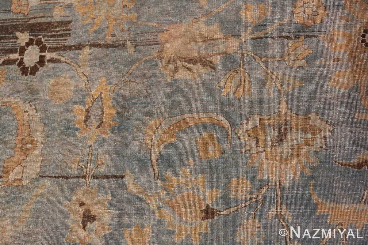 A detailed flower picture of the antique persian khorassan rug #49843 from Nazmiyal Antique Rugs NYC