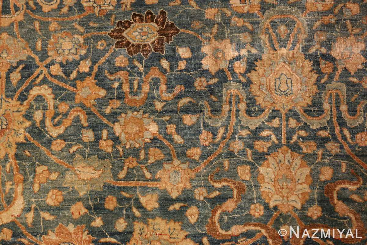 A detail golden flower picture of the antique persian tabriz #70070 from nazmiyal new york city