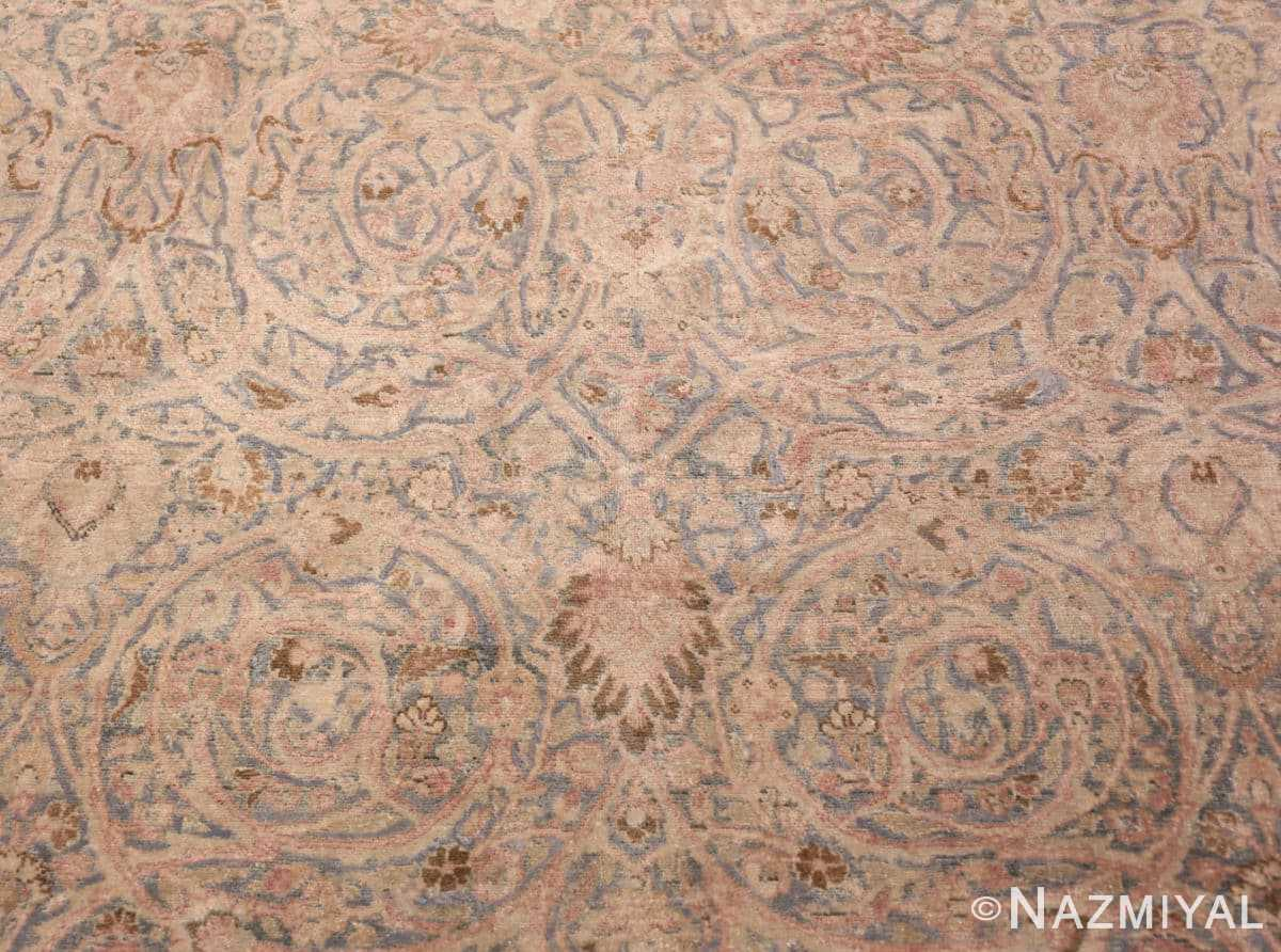 Center Light Blue Antique Persian Khorassan rug 70001 by Nazmiyal