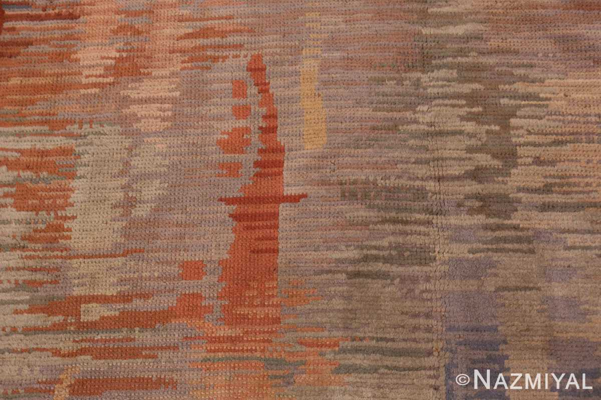 A detailed picture of the vintage surrealist french art deco rug #50737 from Nazmiyal Antique Rugs NYC